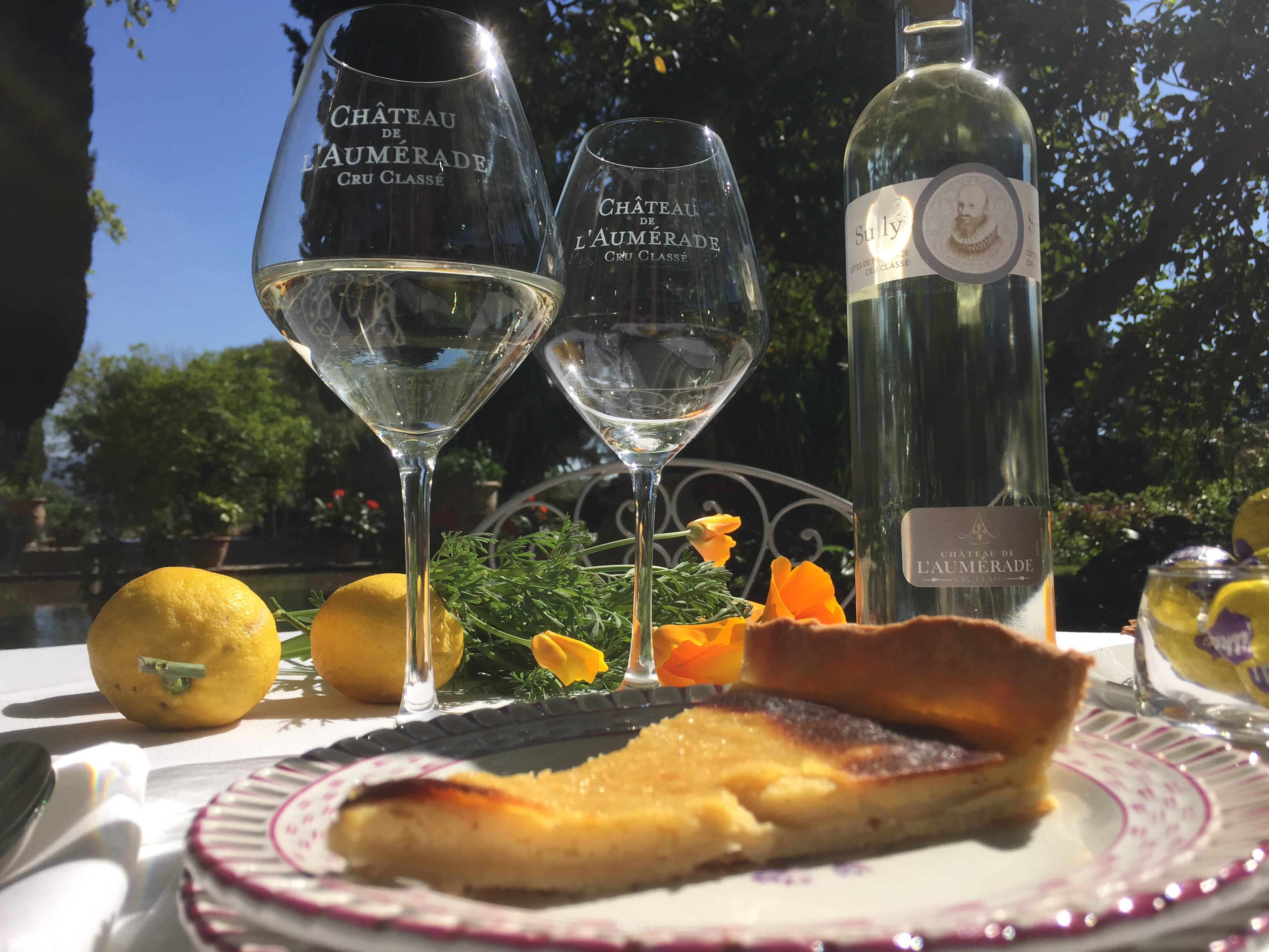 tarte au citron et sully blanc de blancs